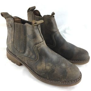 Ankle boot chelsea brown leather pull Pemex Setro